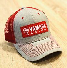 YAMAHA FACTORY RACING HAT CAP BMX BIKE SNAP BACK RED GREY MX YZF YFZ RI R6 RACE