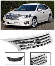 For 13-15 Nissan Altima Front Bumper Hood JDM Style Upper Center Chrome Grille