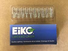 Set of 10: Genuine Eiko Certified Green 194 Interior Dome Map Light Bulb USA