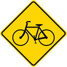 3M EGP Reflective BICYCLE CROSSING SYMBOL Road Warning Traffic Sign 24 x 24