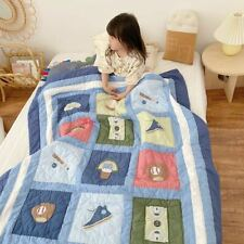 Baby Toddler Quilt baseball, 100% cotton, high quality