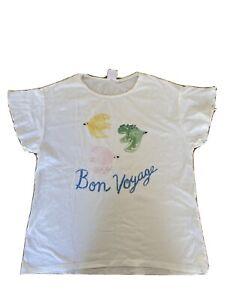 Zara Kids White Girls T-Shirt, Sz 13-14 Years
