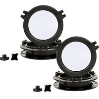 2 Pack Boat Yacht Round Opening Portlight Porthole Replacement Window 8'' -Black