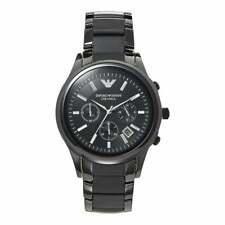 Emporio Armani AR1452 Ceramica Chronograph Black Dial Black Ceramic Men's Watch