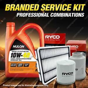Oil Air Fuel Filter + 5L SEM10W40 Service Kit for Mazda 323 Astina BJ 4cyl 1.8L