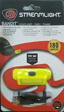 Streamlight #61700 BANDIT USB Rechargeable Headlamp w/Visor Clip & Strap, Yellow