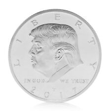 American 45th President Donald Trump Silvery Commemorative Coins Token Hot!