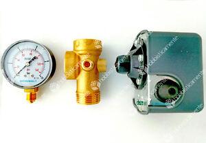 Kit Autoclave Pressure Switch Connecting 5 Ways Manometer Presscontrol Pump