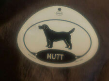 Euro Mutt Mixed Breed Dog Oval Decal