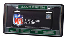 New York Jets Gang Green NFL Chrome Metal Laser Cut License Plate Frame