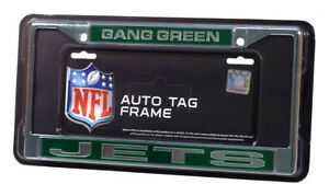 New York Jets Gang Green Chrome Metal Laser Cut License Plate Frame