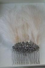 Gatsby Diamanté y plumas. Peine de Cabello Boda. nuevo. hecho a mano. Vintage.