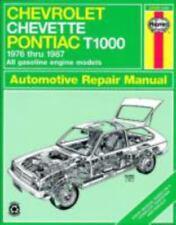 Haynes Repair Chevrolet Chevette-Pontiac T1000 1976-1987 Owners Workshop Manual