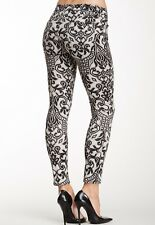 $215 NWT 7 FOR ALL MANKIND Sz25 THE ANKLE SKINNY MIDRISE JEANS PRINTED LACE