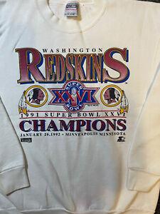 vintage 1991 washington redskins super bowl xxvi sweatshirt XL Extra Large