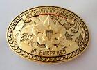 Boy Scouts of America Beautiful GOLD BSA Belt Buckle - Great Eagle Gift Idea