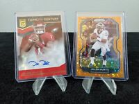 SEE DESCRIPTION 2020 Jalen Hurts AUTO #'D/Orange Disco CHASER/Mystery packs!!