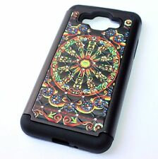 Samsung Galaxy Grand Prime G530 - HYBRID DIAMOND BLING CASE BLACK COLORFUL WHEEL