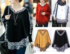 Wool Blend Poncho Regular Size Jumpers & Cardigans for Women