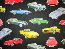 CLASSIC JAGUAR CARS LUXURY CAR COTTON FABRIC BTHY