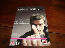 ROBBIE WILLIAMS PARC DES PRINCESRARE FRENCH PROMO FLYER
