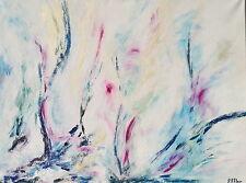 Peinture acrylique toile tableau Feu et glace 1 abstrait Original signé