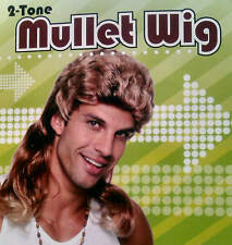 Mullet Wig Redneck Hill Billy 80s 90s Boy Band Country Pop Star Fancy Dress