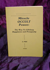 MIRACLE OCCULT POWER Finbarr Books, J Pike, Magic, Magick, Grimoire, White