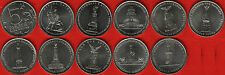 "Russia full set of 10 coins: 5 roubles 2012 ""Patriotic War 1812"" UNC"