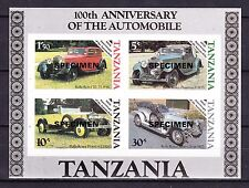 TANZANIA SPECIMEN SOUVENIR SHEET SC# 266a MINT NEVER HINGED ROLLS ROYCE