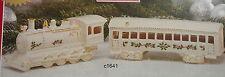 Lenox Christmas Village Train Engine & Passenger Car new in box $120