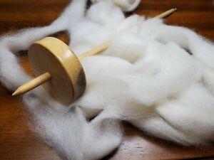 100% Alpaca Roving - White - Suri - Natural