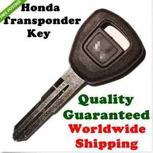 HONDA TRANSPONDER CHIP KEY FOR ACCORD CIVIC CRV PRELUDE INTEGRA CRX S2000