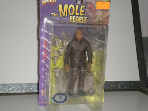 "THE MOLE PEOPLE Sideshow Universal Monsters FREE S/H  2000 Action Figure 8"" NOS"