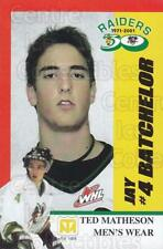 2001-02 Prince Albert Raiders #1 Jay Batchelor