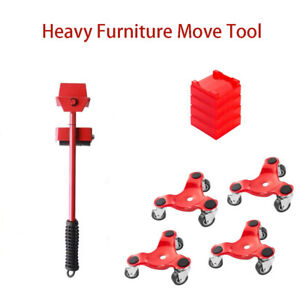 Transport Moving Remover Roller Wheel Slider Move Furniture Tool for Heavy Duty