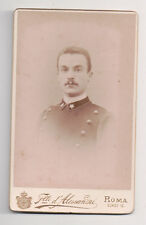 Vintage CDV Italian Soldier Military Uniform Alessandri Photo Rome