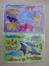 2 Kinder-Zeichenschablonen Landtiere (Elefant,..) Meerestiere (Fische, Delphin).
