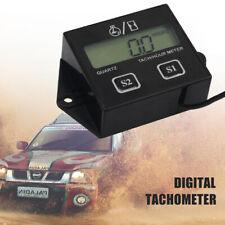 1x Car Motorcycle Tach Hour Meter Digital LCD Race Tachometer Gauge Universal UK