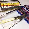 Laser Engraved Customize License Plate Fram Tag Holder Bracket Black Chrome New