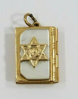 Vintage 14K Gold ~STAR OF DAVID JEWISH PRAYER BOOK~ Charm *Opens*