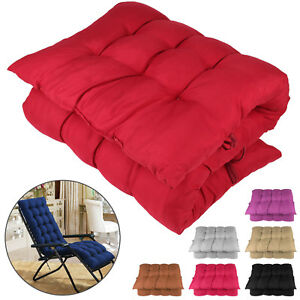New Cotton Soft Seat Replacement Cushion Pad Garden Lounger Recliner Chair