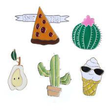 5pcs Enamel Ice Cream Cactus Collar Pins Badge Corsage Cartoon Brooch Jewelery