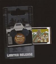 DISNEY CORONADO SPRINGS RESORT CHIP N DALE CAMERA SLIDER SERIES PIN NEW ON CARD