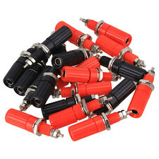 Black + Red 20pcs Binding Post Speaker Cable For 4mm Banana Plug Connector