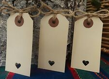 55 Vintage Rustic Cream Luggage Tags Wedding Favour Place Card Wish Tree twine