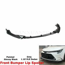 Fit For TOYOTA Corolla 2020-2022 Sedan Front Bumper Lip Spoiler Splitte Painted