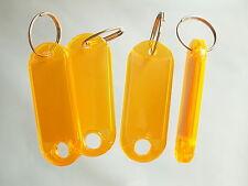 50 Schlüsselanhänger  Schlüsselschilder Anhänger m Etiketten Hart ORANGE