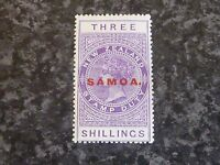 SAMOA STAMP DUTY POSTAGE STAMP SG166A THREE SHILLINGS LIGHTLY MOUNTED MINT