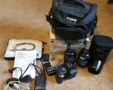 Olympus E-500 Digital Advanced Camera Huge Bundle With Bag, Manuals & Box + more
